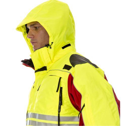 醒目的色块安全制服外套