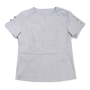 Button On Sleeve V-neck Scrubs For Doctors And Nurses