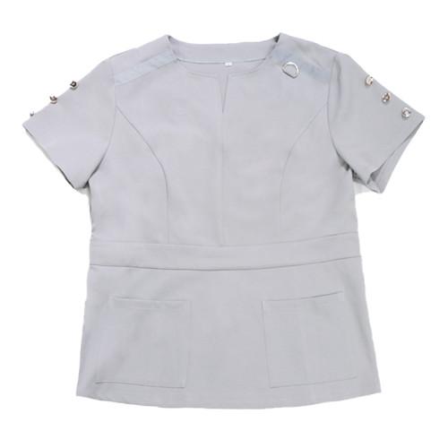 Women's Scrub Uniforms | V-neck Button On Sleeve Scrub Uniforms Sets For Hospital | Breathable Scrub Uniforms Wholesale