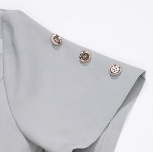 按钮袖子 V 领磨砂膏,适用于医生和护士