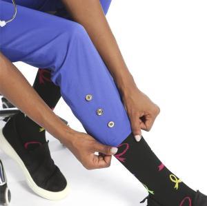 Notched Neck Nurse Scrub Top with Pants set