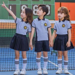 Custom Color Block Polo Shirts School Uniforms