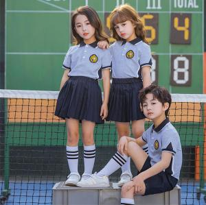 Polos For School Uniforms | Short Sleeve Color Block School Uniforms For Kids | Comfortable School Uniforms Affordable