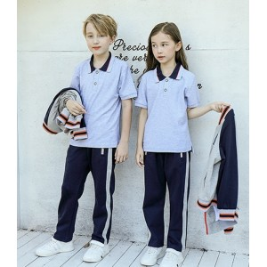 School Polo Shirt With Bomber Jacket And Pants Set