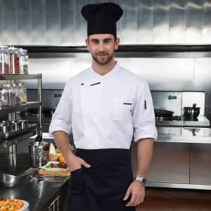 Long Sleeve Chef Coat Cook Jacket