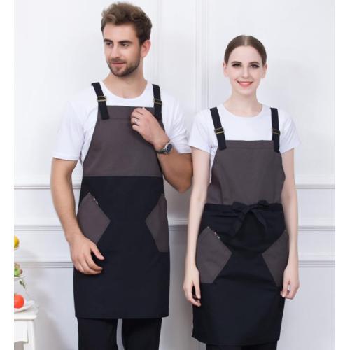 Unisex Aprons With Pockets   Color Block Promotional Uniforms Cheap   Apron Dresses Wholesale