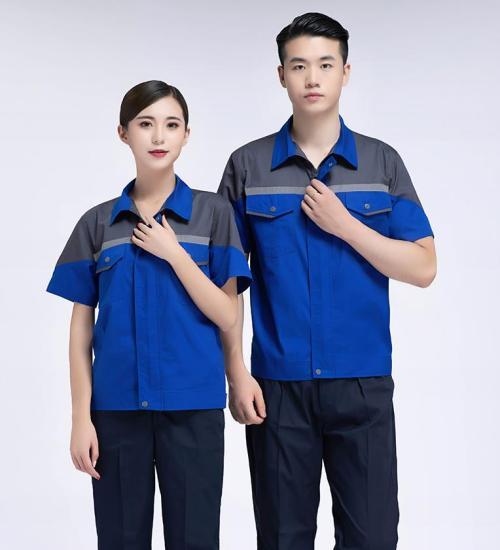 Unisex Logistics Uniforms | Short Sleeve Color Block Logistics Uniforms | Quality Breathable Logistics Uniforms Wholesale