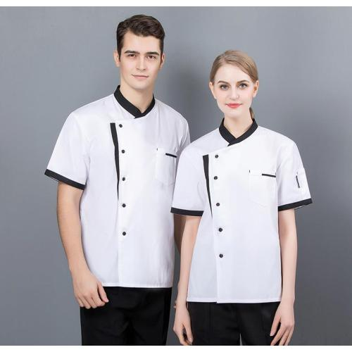 Unisex Uniforms For Catering   Short Sleeve Catering uniforms Polyester Cotton   Washable Catering uniforms Wholesale
