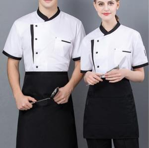 短袖厨师外套厨师衬衫制服