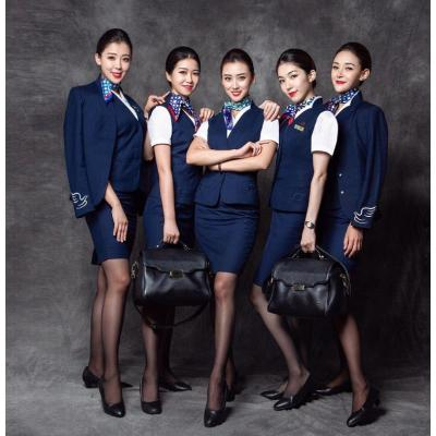 Airline Uniforms For Ladies | V-neck Solid Airline Suit Uniforms | Modern Quality Airline Suit Uniforms
