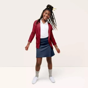 Girls' Short Sleeve Shool Uniform Polo Shirt