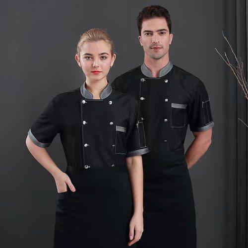 Unisex Catering Uniforms   Short Sleeve Denim Jackets Work Catering Uniforms   Quality Catering Uniforms Wholesale