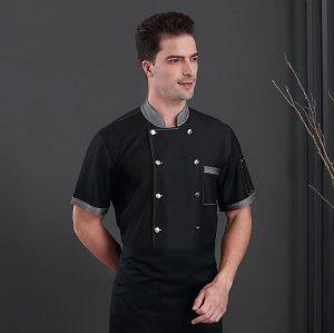 高品质厨师服工作服制服酒店工作服牛仔夹克