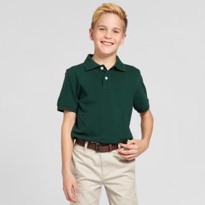 Wholesale Short Sleeve  Uniform Polo Shirt classic collar school uniform