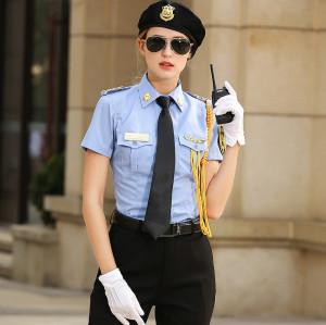 全新设计的优质女式安保礼仪巡逻制服