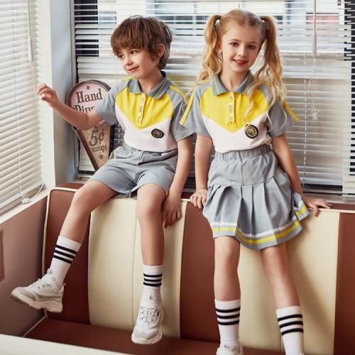 Fashion School Uniforms For Kids   Summer Short Sleeve School Uniforms Polo Shirts   School Uniforms Pants/Skirts Wholesale
