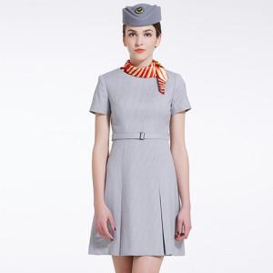 Women's Airline Attendant Uniforms | Short Sleeve Airline Fancy Dresses | Fashion Airline Uniforms Dresses Custom
