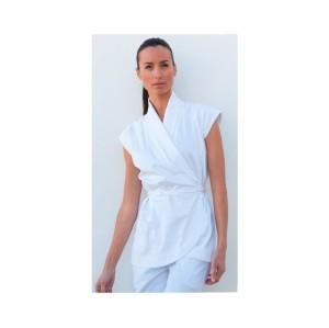 Women's Spa Uniforms Tops | Cotton 3/4 Sleeve Spa Uniforms Tunic | Fancy Spa And Salon Uniforms