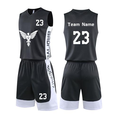 批发队服男式篮球球衣短裤套装