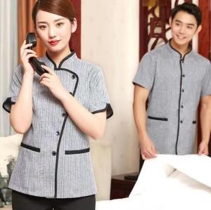 Unisex Hotel Housekeeping Uniforms | Button Short Sleeve Hotel Valet Uniforms | Quality Hotel Work Uniforms Wholesale