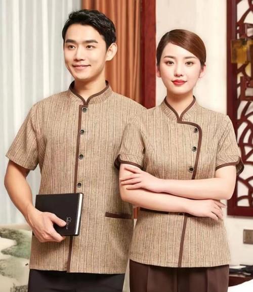 Unisex Hotel Housekeeping Uniforms   Button Short Sleeve Hotel Valet Uniforms   Quality Hotel Work Uniforms Wholesale