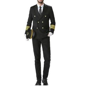 Pilot Uniforms Costume For Men   Long Sleeve Pilot Uniforms Coat And Shirts With Pants   Custom Pilot Wears Uniforms