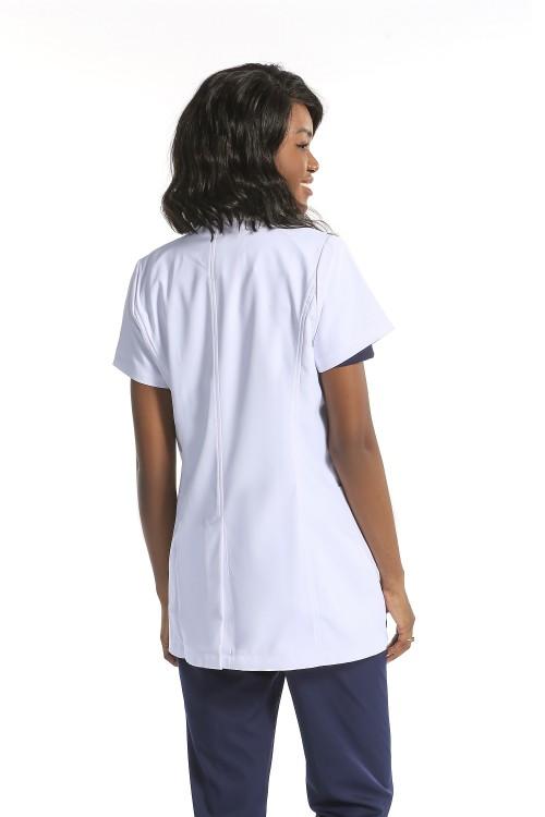 男女通用的实验室外套和磨砂膏   White Lab Coats 短袖 Professional  透气实验室外套定制