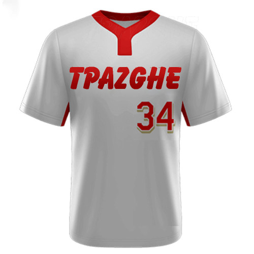 Uniforms For Baseball Team   Short Sleeve V-neck Baseball Team Shirt Jerseys   Quality Baseball Team Uniforms Wholesale