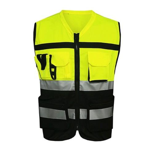 带口袋的质量安全背心 |反光安全背心高品质|带标志的定制安全背心
