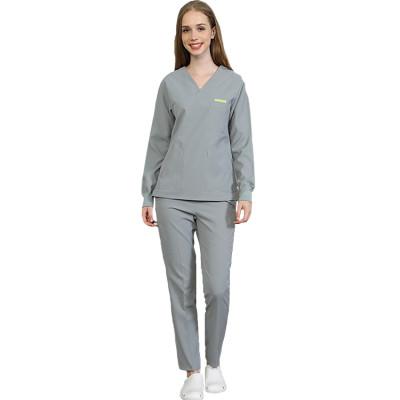 Women's Spa Apparel Uniforms   V-Neck Long Sleeve Salon Wear Uniforms   Custom Beauty Work Uniforms Wholesale