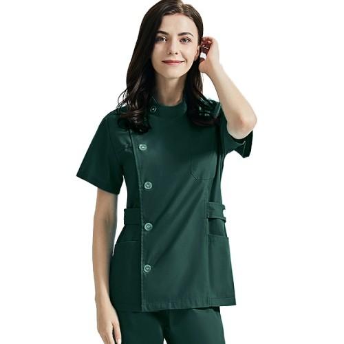 Women's Beauty Salon Uniforms | Mutiple Color Single Row Buttons Beauty Salon Tops | Quality Salon Uniforms Wholesale