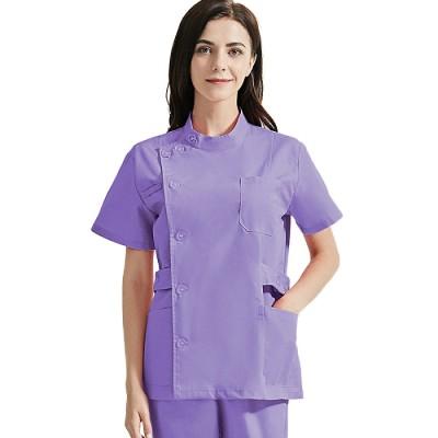 Women's Beauty Salon Uniforms   Mutiple Color Single Row Buttons Beauty Salon Tops   Quality Salon Uniforms Wholesale