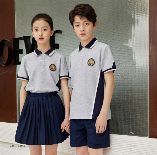 Polos For School Uniforms   Short Sleeve Color Block School Uniforms For Kids   Comfortable School Uniforms Affordable