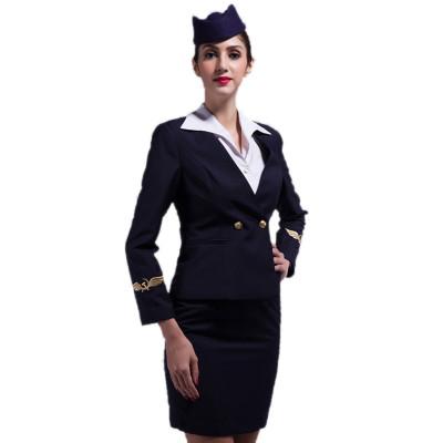 Airline Crew Uniform For Ladies | Fashion Airline Suit Uniform Cotton | Custom Airline Uniforms For Flight Attendants