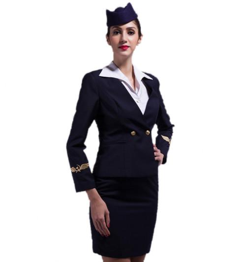 Airline Crew Uniform For Ladies   Fashion Airline Suit Uniform Cotton   Custom Airline Uniforms For Flight Attendants