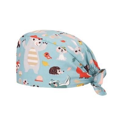 护士的医疗帽模式|多彩多姿的可调节帽子系带帽 |带弹性印花男女通用的磨砂帽