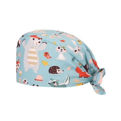 护士的医疗帽模式 多彩多姿的可调节帽子系带帽  带弹性印花男女通用的磨砂帽