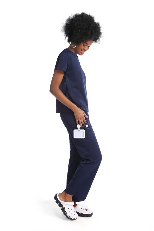 护士磨砂制服套装|拉链半开襟短袖弹力磨砂医院制服| SHOPBOP质量磨砂制服定制