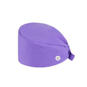 可调式汗带磨砂帽 Bouffant Unisex |纯色磨砂帽蓬松带按钮|带徽标的定制磨砂帽