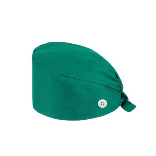 Adjustable Sweatband Scrub Caps Bouffant Unisex | Solid Color Scrub Caps Bouffant With Buttons | Custom Scrub Caps With Logo