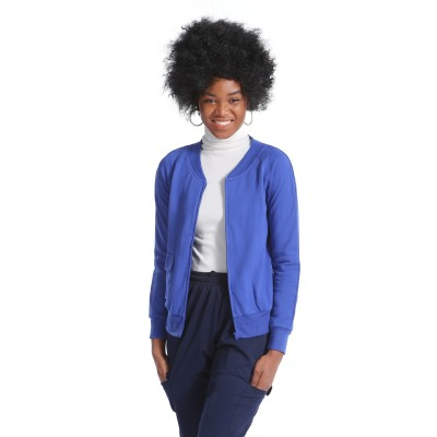Women's Scrub Jackets Fleece | One-Pocket Plain Scrub Jackets For Nurses | Custom High Quality Scrub Jackets With Logo