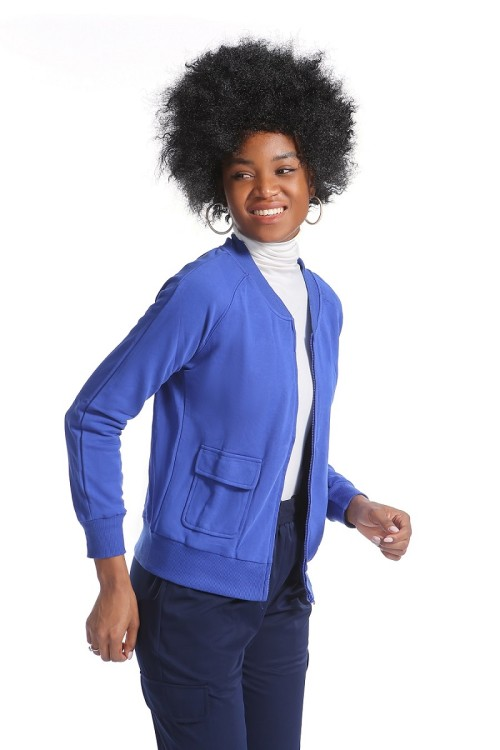 Women's Scrub Jackets Fleece   One-Pocket Plain Scrub Jackets For Nurses   Custom High Quality Scrub Jackets With Logo