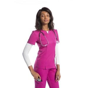 Women's Scrub Uniforms Sets | Notched V-neck Scrub Tops & Slim Fit Pants | Wholesale Stylish Scrub Uniforms For Nurses