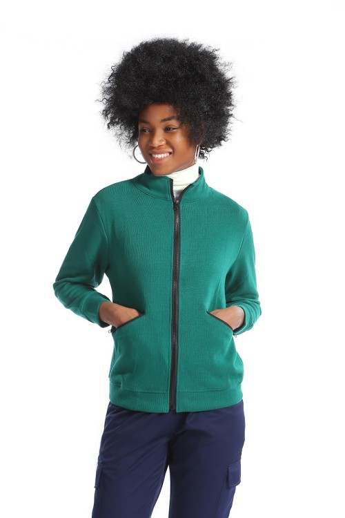 Nurse Jackets Fleece | Three Pockets Zip-up Scrub Jackets | Custom High Quality Nurse Jackets With Logo