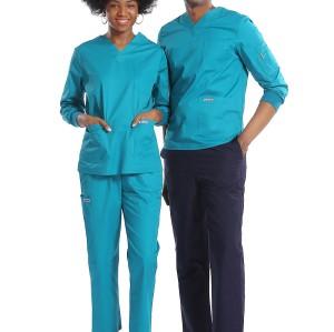 Unisex Waterproof Scrub Uniforms For Nurses | 8 Pockets Long Sleeve Scrubs Uniforms Sets | Scrub Uniforms Wholesale