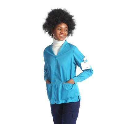 Scrub Jackets For Women | V-neck Zip-up Scrub Jackets Fitted | Waterproof Scrub Jackets Wholesale