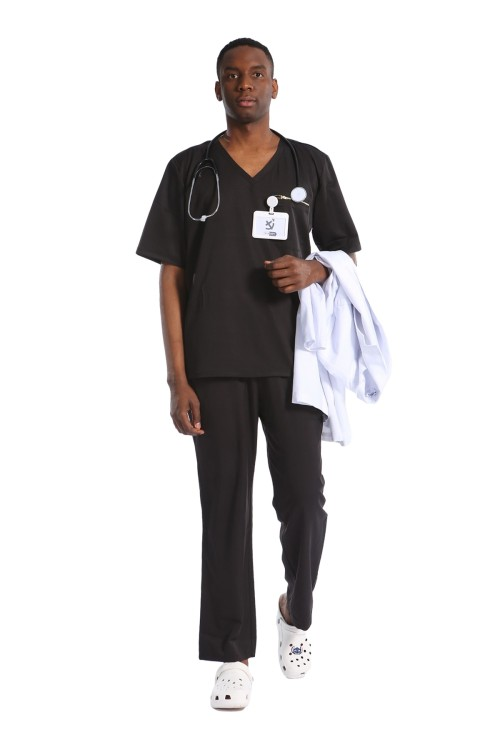Quality Medical Uniforms For Men   V-neck Short Sleeve Stretch Scrubs Uniforms Sets   Wholesale Cheap Scrub Uniforms