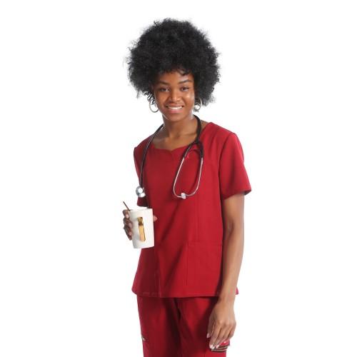 女式磨砂护士制服| SHOPBOP 6 口袋护士短袖磨砂制服 |批发磨砂制服时尚