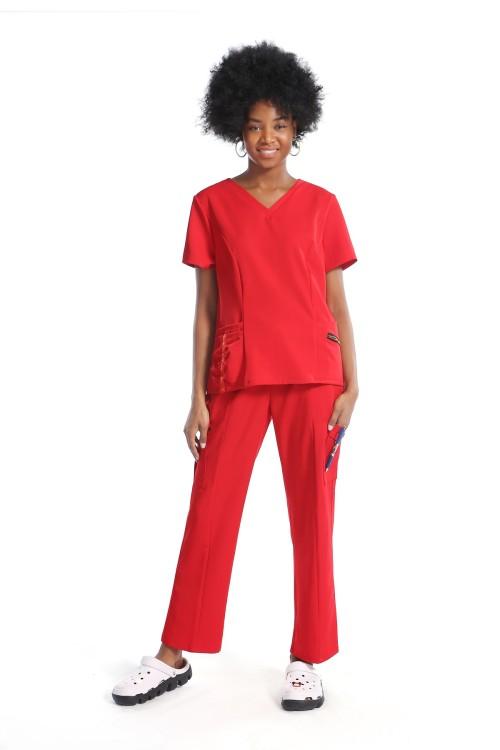 Custom Scrub Nurse Uniforms For Women | Solid Scrub Uniforms For Nurses | Custom Stylish Scrub Uniforms Wholesale