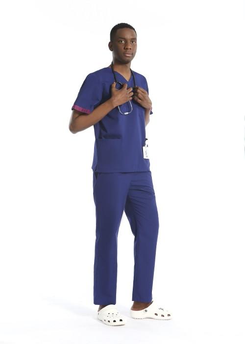 Men's Scrubs Uniforms Sets Quality | Short Sleeve V-neck Solid Scrub Uniforms | Wholesale Scrub uniforms Affordable